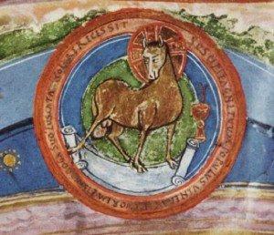 (9) Apocalisse L'Agnello immolato, I Sette Sigilli e i 4 cavalieri  dans Apocalisse It 32-Agnello1-300x258