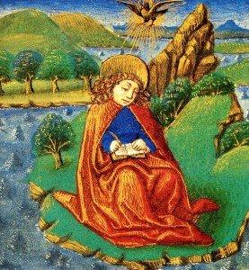 (4) Apocalypse: Jean L'auteur se présente, Subdivision du texte dans Apocalypse 5-GiovanniaPatmos-277x300