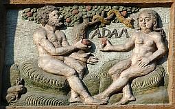 Adamo, Eva ed il serpente nel giardino dell'Eden dans Religione adameve1